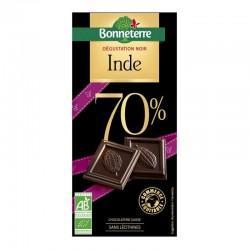 CHOCOLAT NOIR ORIGINE INDE 70% 80G