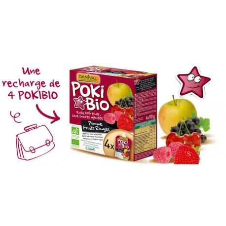 POKI POMME FRUITS ROUGES X4