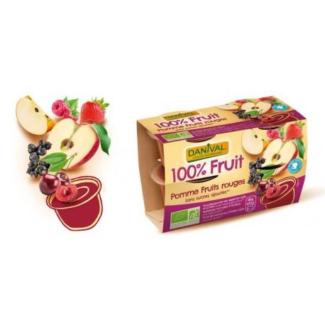 PUREE FRUITS ROUGES 4X100G