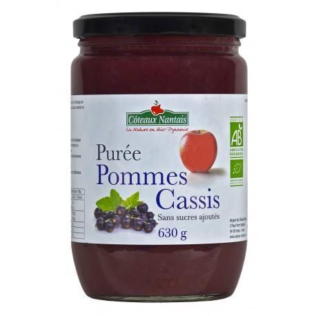 PUREE DE POMME CASSIS 630G