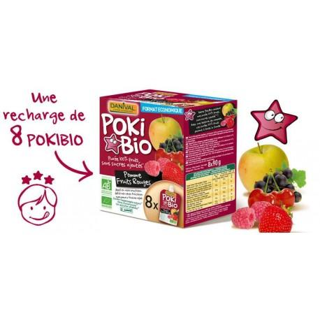 POKI POMME FRUITS ROUGE 8X90G